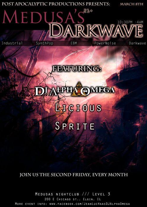 medusas darkwave flyer